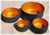 Keramikschalen Gold-schwarz